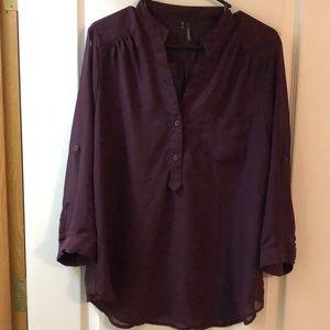 Maurices sheer 3/4 sleeve shirt